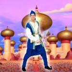 Costume et déguisement de alladin prince des voleurs bleu et blanc
