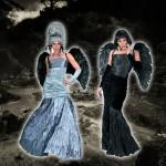 costume et deguisement de ange noir halloween robe
