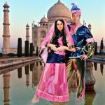 costume et déguisement inde indien alladin oriental rose et bleu