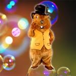 costume et deguisement mascotte peluche géante de castor