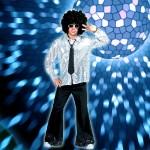 Costume et déguisement de disco paillette années 80 années 70 années 60 strass brillant brille brillante paillette argent