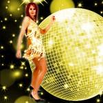 Costume et déguisement de disco paillette années 80 années 70 années 60 strass brillant brille brillante paillette jaune or