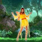 Costume et déguisement de fée clochette jaune aile