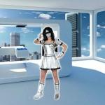 Costume et déguisement de futur futuriste argent an 2000 gris