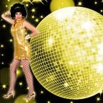 Costume et déguisement de disco paillette années 80 années 70 années 60 strass brillant brille brillante paillette or jaune or sexy