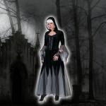 Costume et déguisement de gothique noir robe halloween