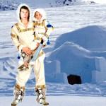 costume et déguisement d'esquimaux inuit igloo polaire froid nord neige
