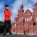 costume et déguisement de russe rouge et noir place rouge russie