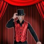 Costume et déguisement de paillette strass brillant brille brillante paillette rouge