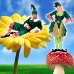 Costume et déguisement de lutin et lutine vert