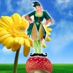 Costume et déguisement de lutin lutine femme vert