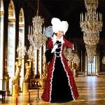 Costume et déguisement de reine majesté gente dame moyen age