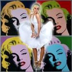 Costume et déguisement de disco paillette années 80 années 70 années 60 robe maryline monroe