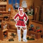 Costume et déguisement de mere noel sexy rouge