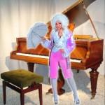 Costume et déguisement de mozart femme cours du roi rose opéra