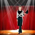 Costume et déguisement de cabaret paillette queue de pie argent music hall