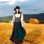 Costume et déguisement de paysanne servante moyen age