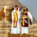 Costume et déguisement de pyramide pharaon toutankamon ramses nefertiti cleopatre reine d'egypte roi egypte egyptien egyptienne blanc or rouge