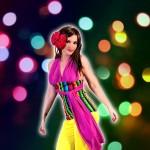 Costume et déguisement de disco multicolore