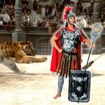 Costume et déguisement de romain rome gladiateur césar jules césar italien arene