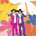 Costume et déguisement de années 60 années 70 claude francois cloclo rose violet