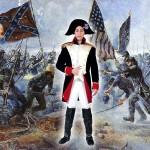 costume et deguisement de soldat francais chouans bleu blanc rouge