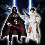 Costume et déguisement de princesse leia et dark vador star wars la guerre des étoiles