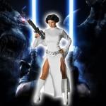 Costume et déguisement de princesse leia star wars robe blanche fendue