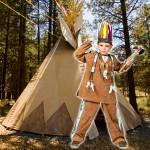 costume et deguisement de indien enfant tipi marron
