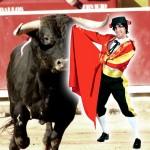 costume et déguisement de torero espagnole arene taureau corrida corida rouge noir et jaune or feria